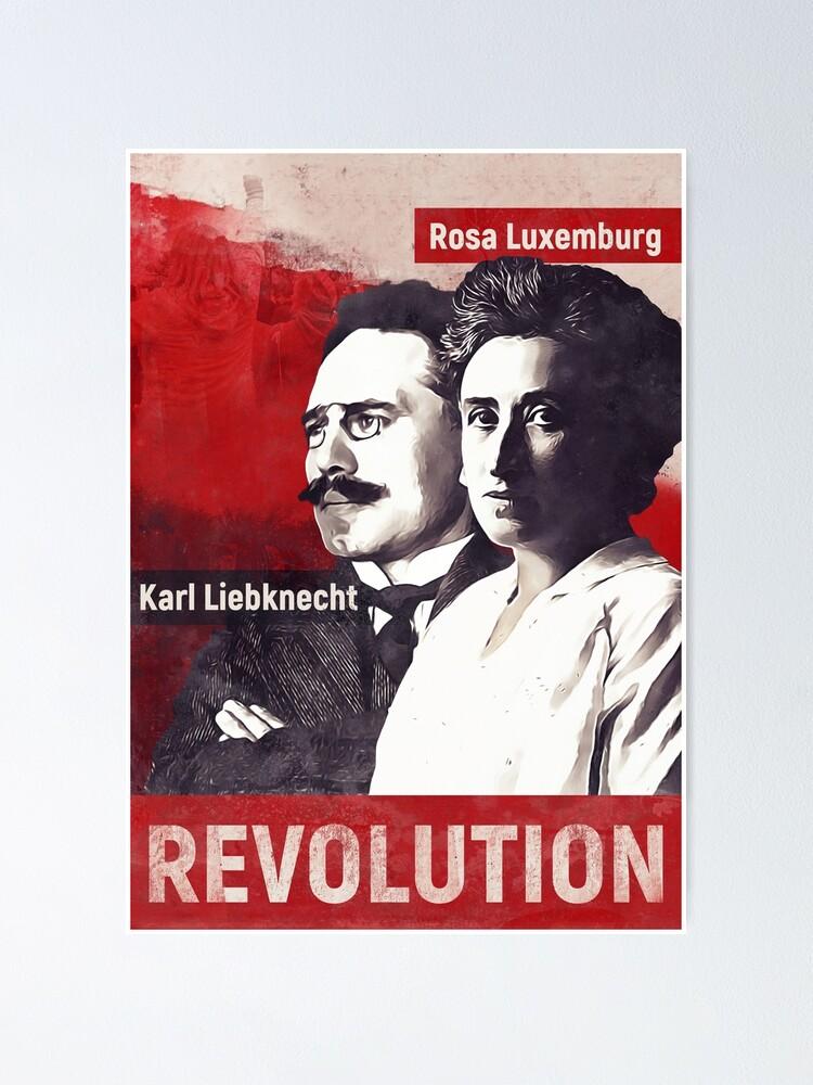 Rosa Luxemburg Et Karl Liebknecht : luxemburg, liebknecht, Poster, Luxemburg, Liebknecht, Radvas, Redbubble