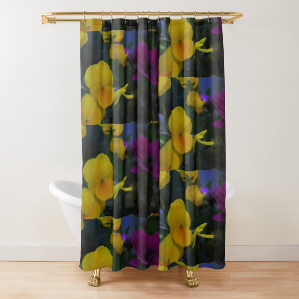 shades of yellow shower curtains redbubble