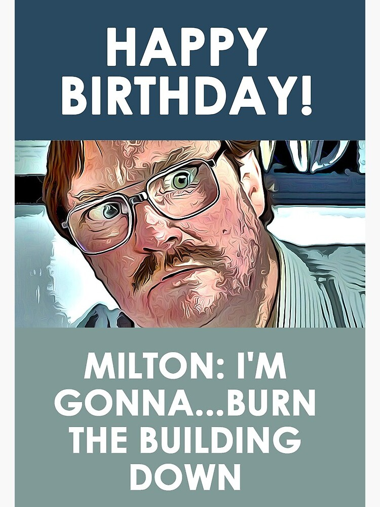 Office Space Happy Birthday : office, space, happy, birthday, Milton, Office, Space, Greeting, Happy, Birthday