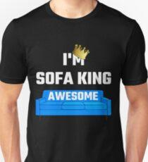 sofa king awesome t shirt shannon leather and fabric corner shirts redbubble i m unisex