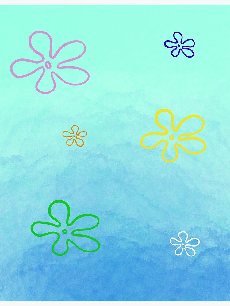 Spongebob Flower Sky : spongebob, flower, Spongebob, Background, Greeting, Ellishanora, Redbubble