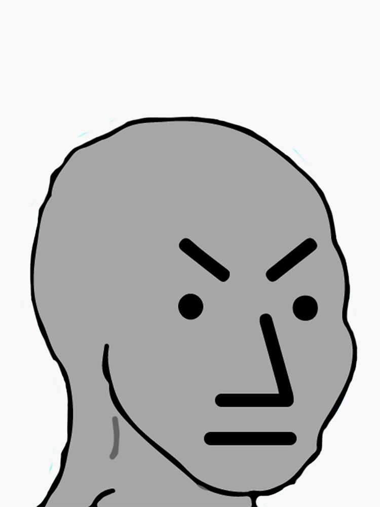 Npc Angry : angry, Angry, Stickers, Redbubble