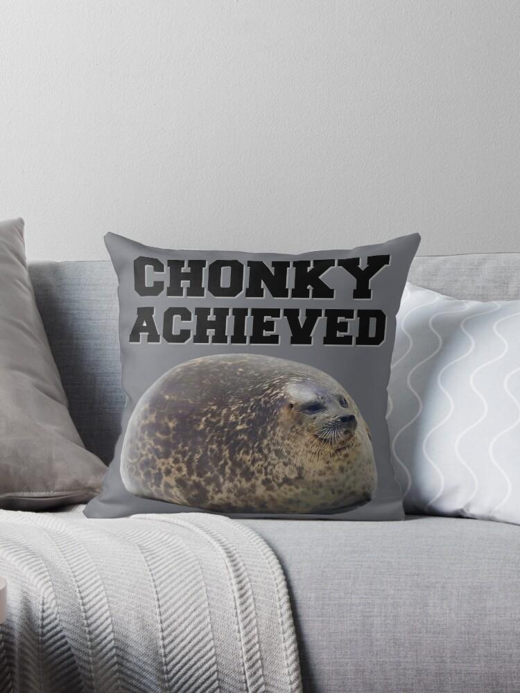 chonky seal dekokissen von scha redbubble