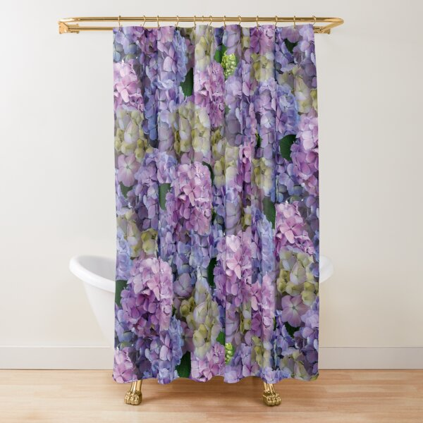 hydrangea flowers shower curtain by nata78 redbubble