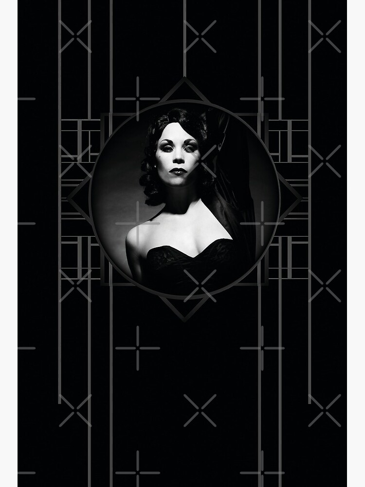 burlesque diva xarah in the iconic art deco vintage style as old hollywood style femme fatale art board print by xarah redbubble