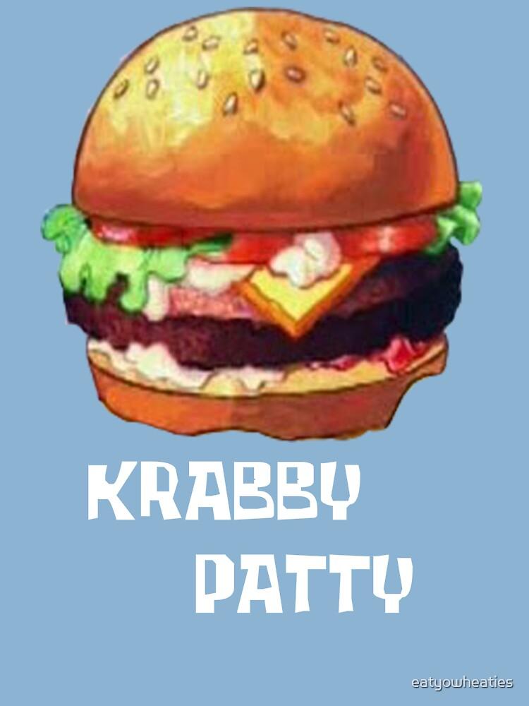 The Krabby Patty : krabby, patty, Krabby, Patty, One-Piece, Eatyowheaties, Redbubble