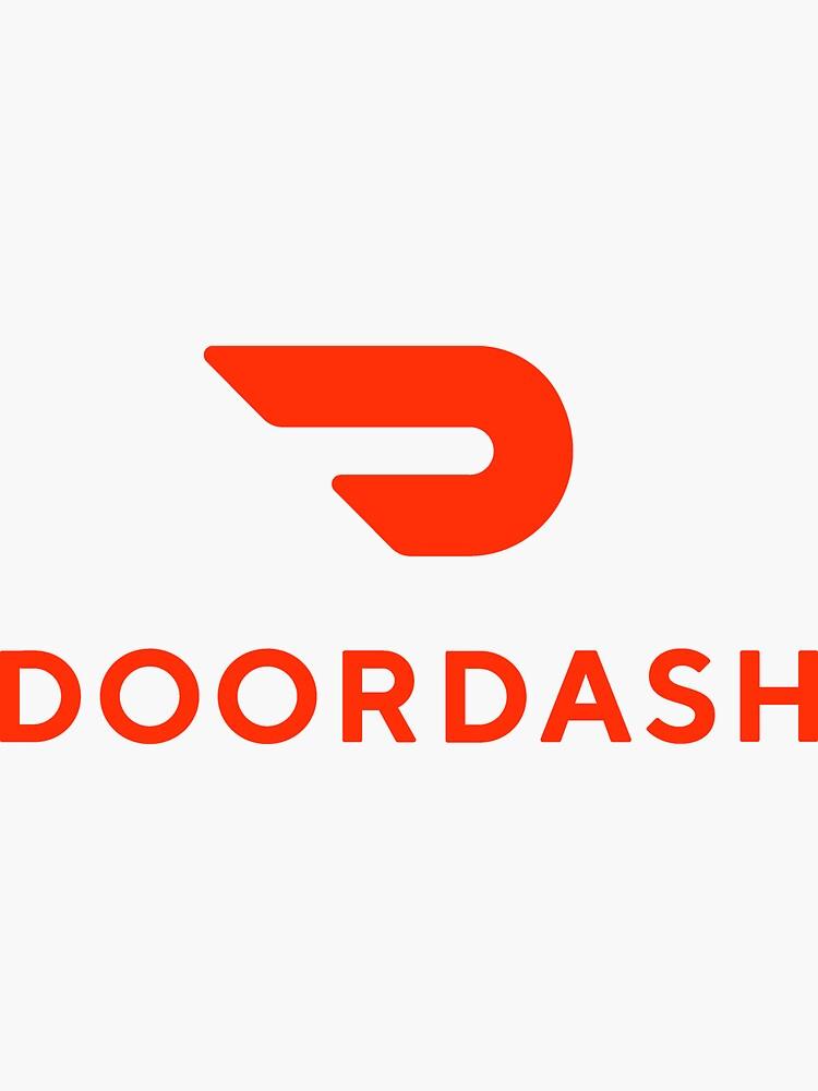 Doordash Vector Logo : doordash, vector, Delivery, Driver, Stickers, Redbubble