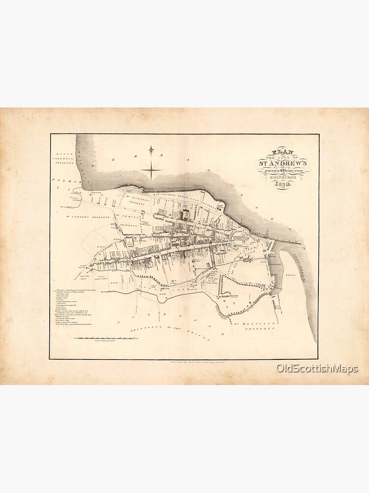 Map Of St Andrews Scotland : andrews, scotland, Andrews, Scottish, Plan,, Historic, Andrews,, Scotland