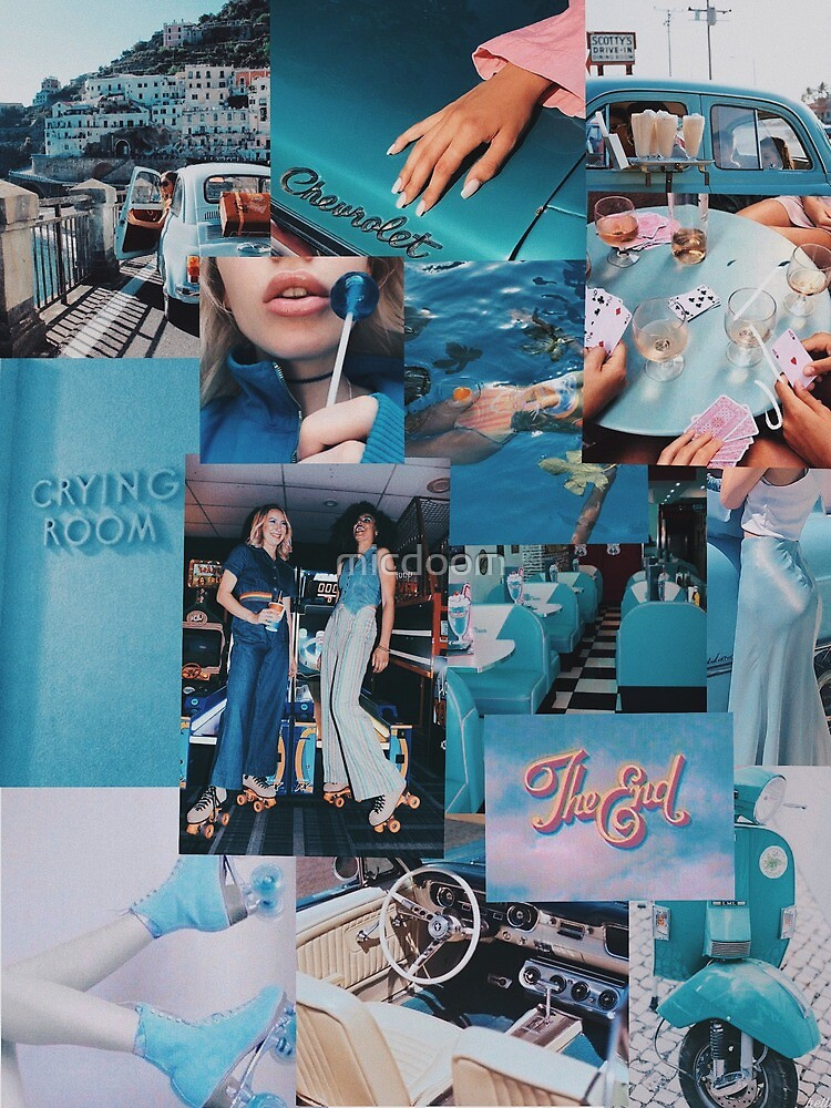 Vintage Blue Aesthetic : vintage, aesthetic, Vintage, Aesthetic, Collage