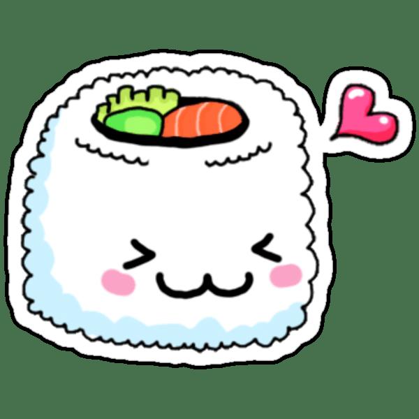 Cute Cartoon Dinosaur Samsung Wallpaper Quot Kawaii Sushi Quot Stickers By Erinaugusta Redbubble