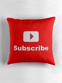 """""""youtube channel subscribe"""" Throw Pillows by Pix Graphic ..."""