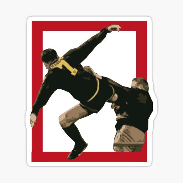 Eric cantona brought a regal swagger to manchester united in the 1990s,. Cantona Kick Stickers Redbubble