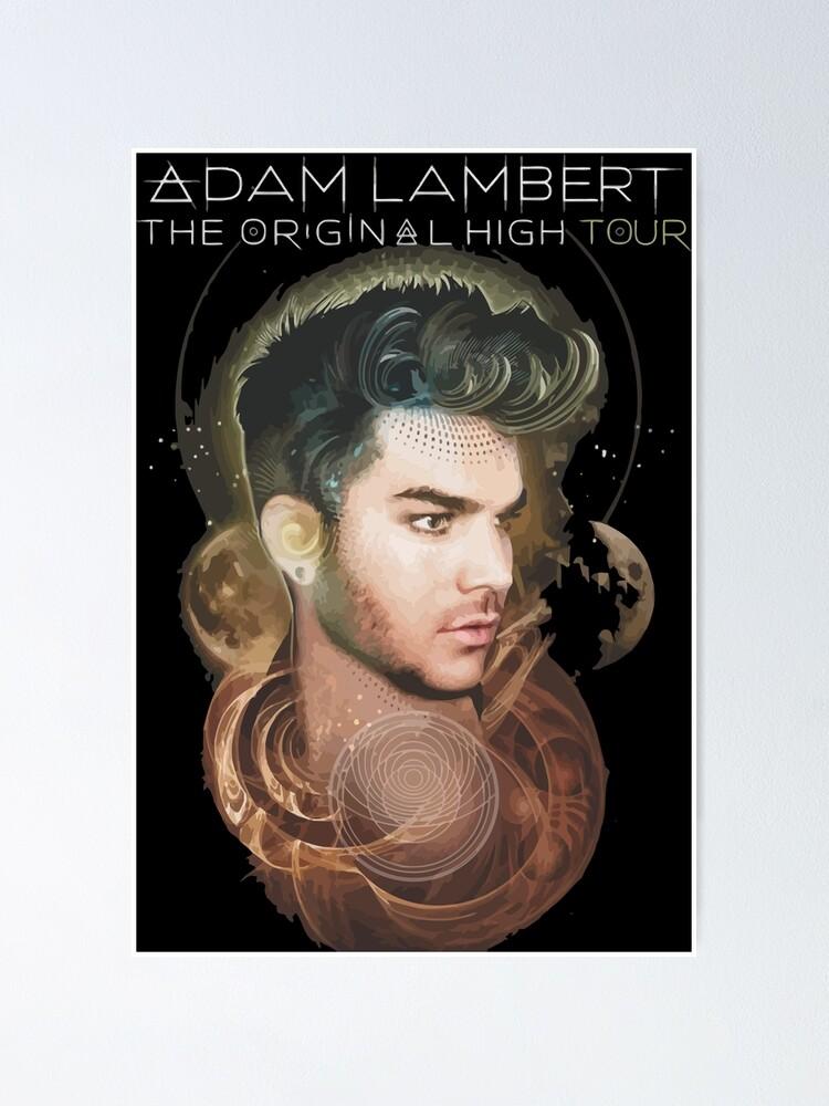 adam lambert hansom poster by brundafinta redbubble