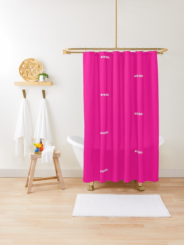 hot pink shower curtain by realcoolart redbubble