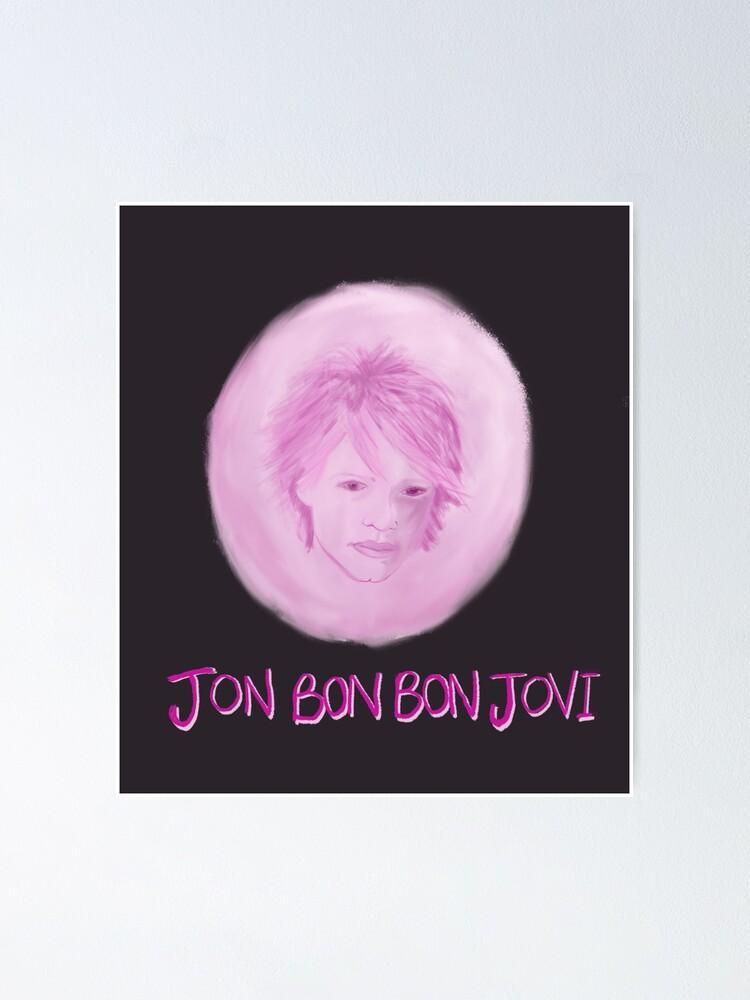 jon bon bon jovi poster von louisadent redbubble