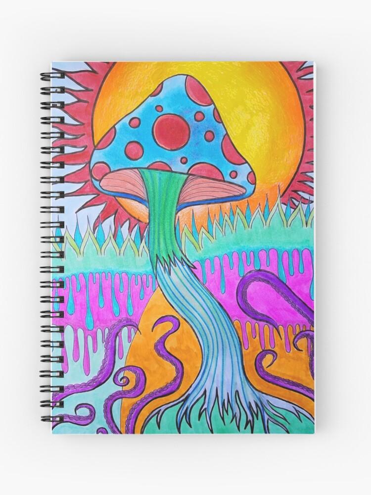 Trippy Mushroom Drawing : trippy, mushroom, drawing, Trippy, Psychedelic, Mushroom