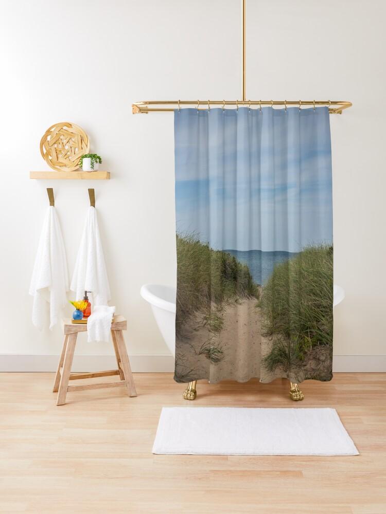 cape cod shower curtain by imashventuring redbubble