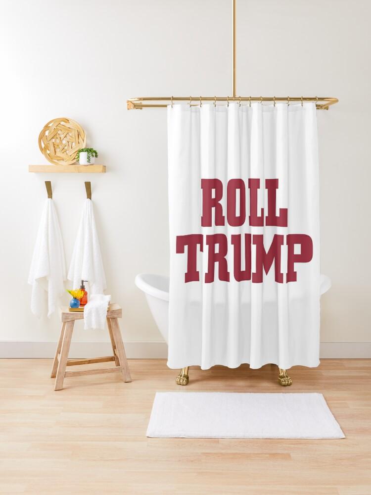 alabama crimson tide roll trump shower curtain by allkayfabe redbubble