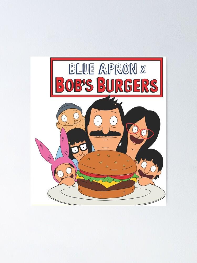 bobs burger merch poster by mamamuda81 redbubble