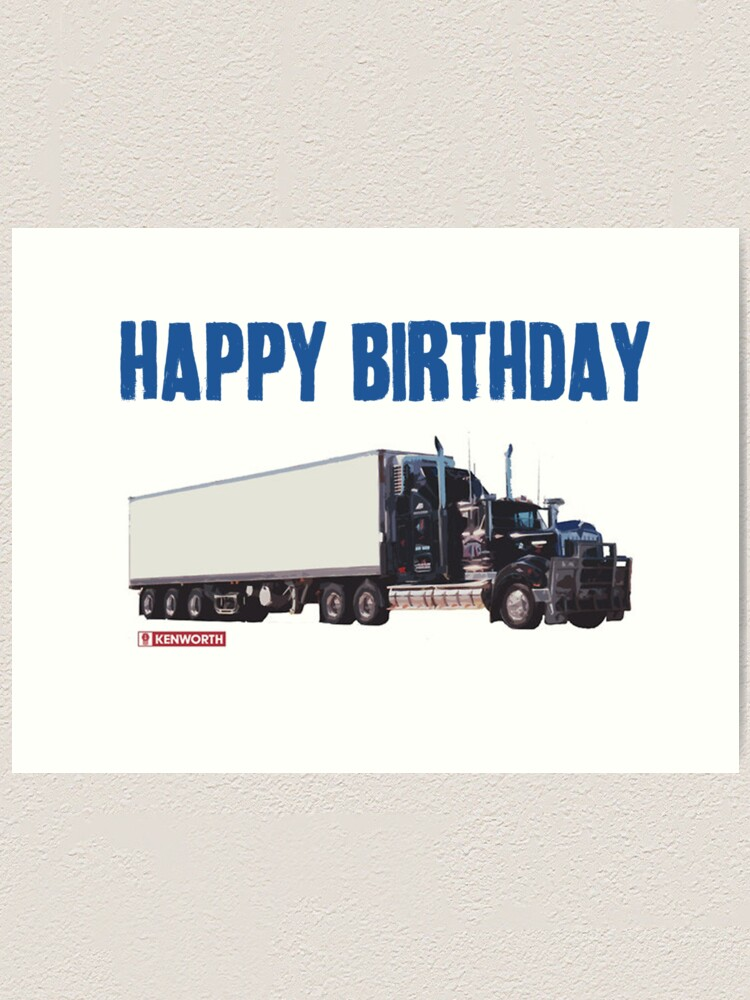 Trucker Birthday : trucker, birthday, Happy, Birthday, Trucker!