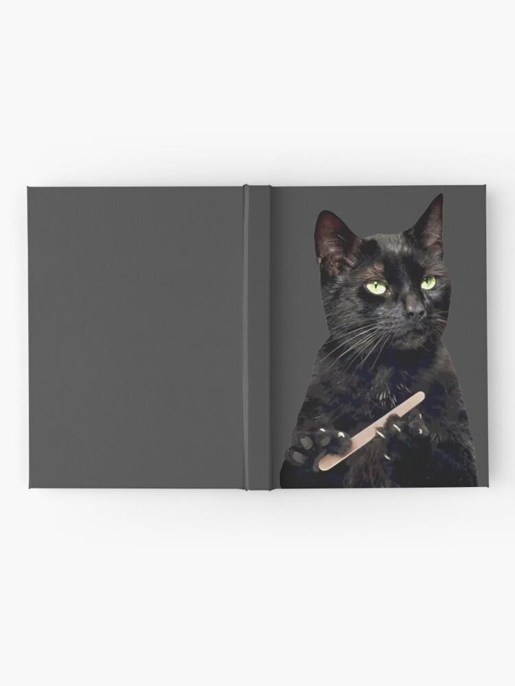 Black Cat Filing Nails : black, filing, nails, Black, Filing, Nails, Hardcover, Journal, Michaelroman, Redbubble