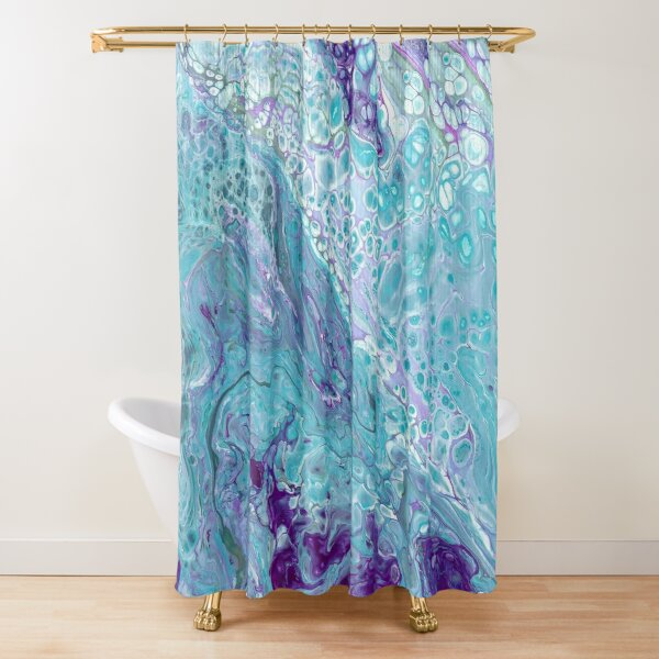 purple and turquoise shower curtains redbubble