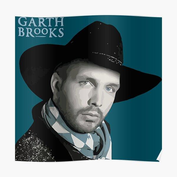 garth brooks poster by skarri9 redbubble