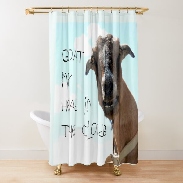 goat image shower curtains redbubble