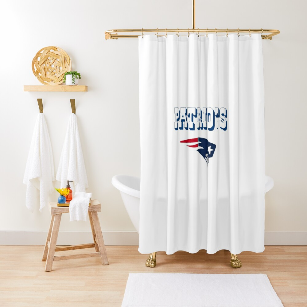 nfl patriots shower curtain by jonmac1982 redbubble