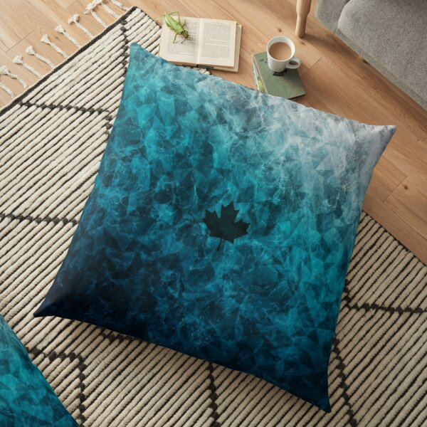 black ice floor pillow by darrylkirsc redbubble
