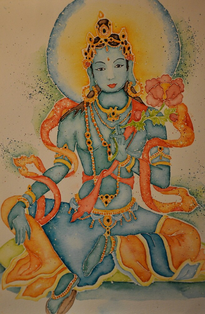 Green Tara Goddess of Compassion by Sophie Jane