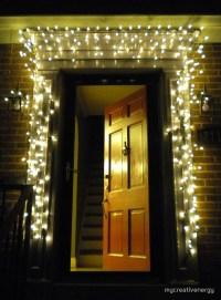 """Christmas lights around red door"" by mycreativenergy ..."