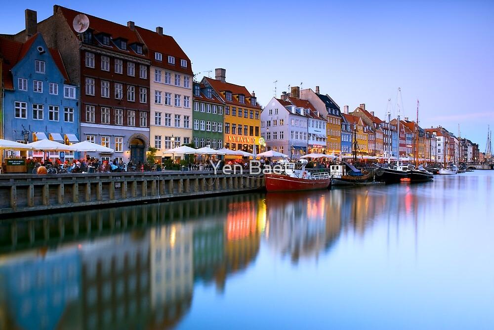 Nyhavn Harbour  Copenhagen Denmark by Yen Baet  Redbubble