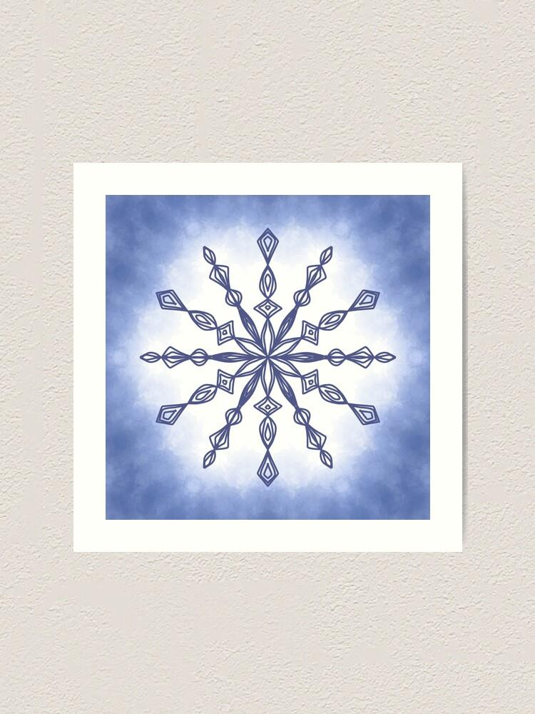 Snowflake Mandala : snowflake, mandala, Flower, Crystal, Snowflake, Mandala