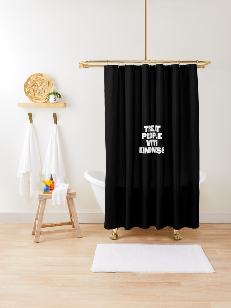 treat people with kindness harry styles shower curtain by laelaelae redbubble