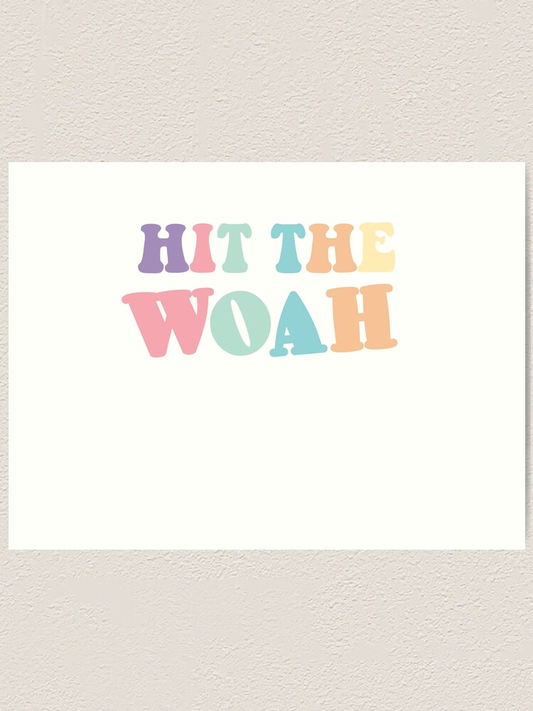 Hit The Woah Meme : Trendy, Viral, Dance, Themed, Sticker, Pastel, Colors, Green