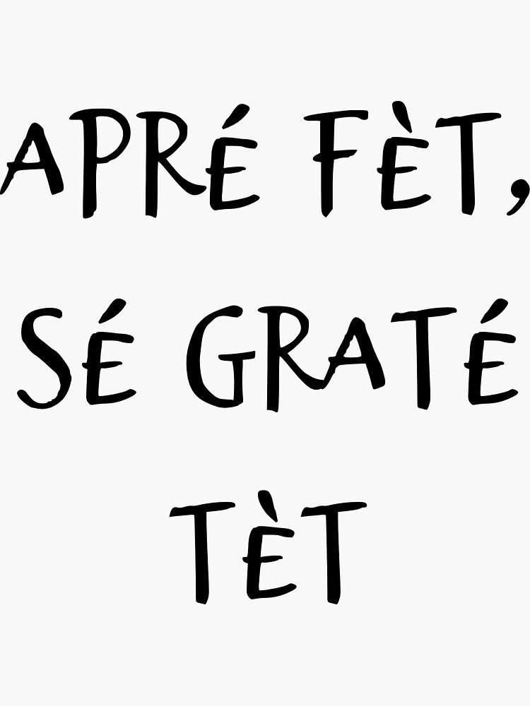 Thank You In Creole : thank, creole, After, Feast,, Thank, Creole, Expression