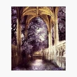 Elven Architecture Ancient Ruins Poster by ObscurEmporium Redbubble
