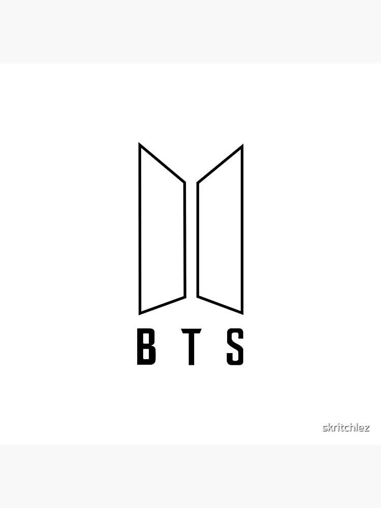 Bts Logo Black And White : black, white, White, Logo