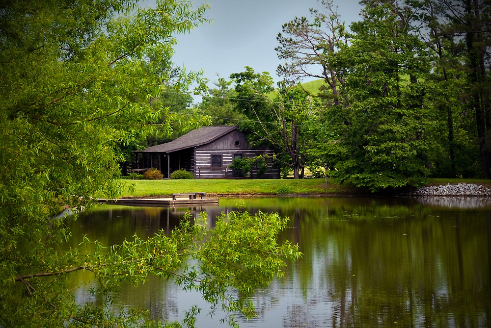 Cabin by the Pond by Jeanne Sheridan  Redbubble