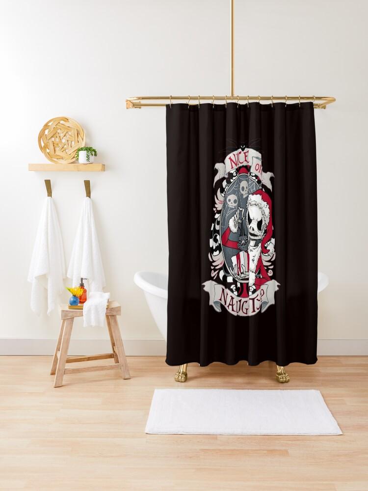 jack skellington shower curtain by whitea861 redbubble