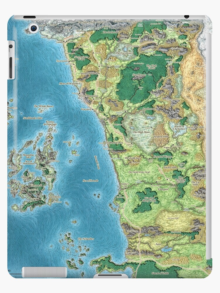 Map Of Fearun : fearun, Faerûn, Wolfofthenorth, Redbubble
