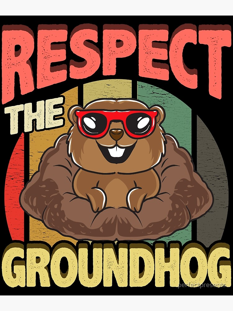 Funny Groundhog Pictures : funny, groundhog, pictures, Respect, Groundhog, Funny, Greeting, Perfectpresents, Redbubble