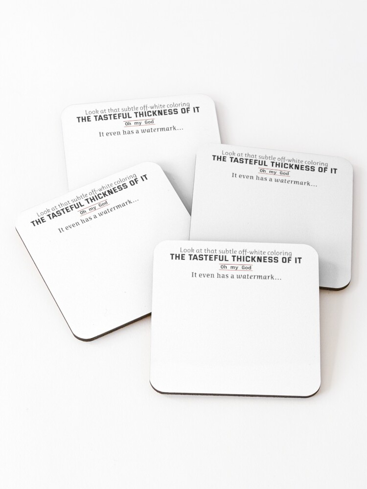 Although it's hard to pick the most iconic american psycho scene, the business card showdown must be a top contender. American Psycho Business Card Quote Coasters Set Of 4 By Prdesigns Redbubble