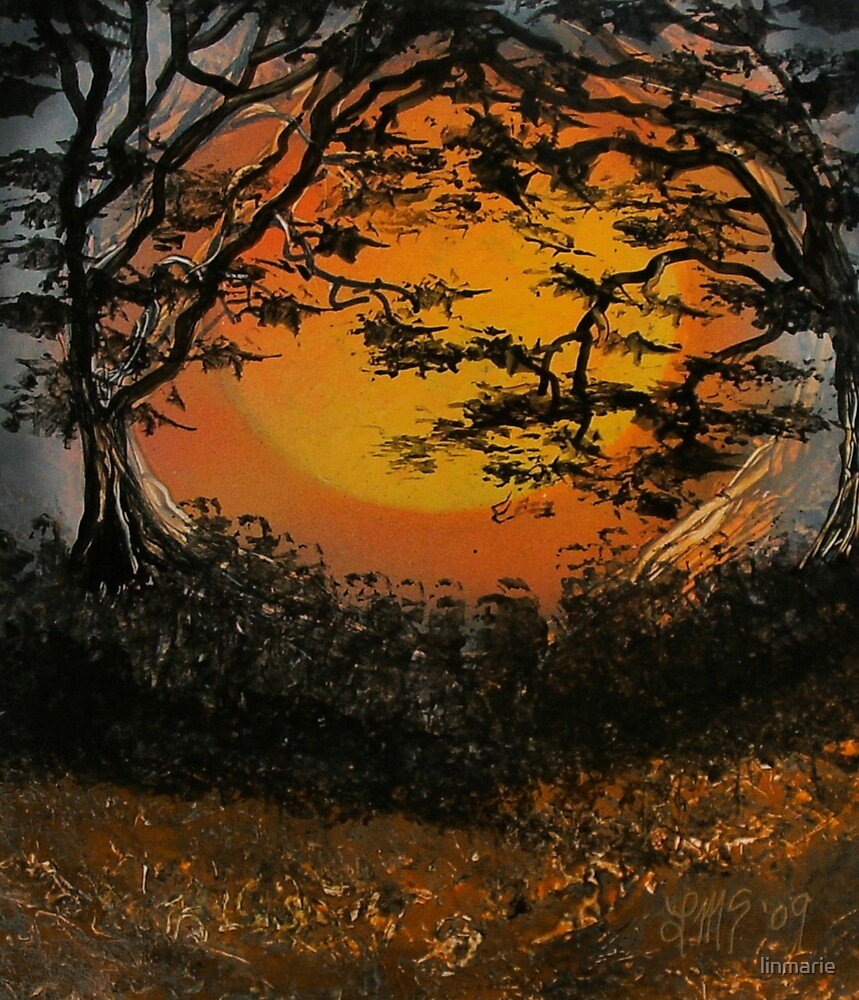 Autumn Moon Madness By Linmarie Redbubble