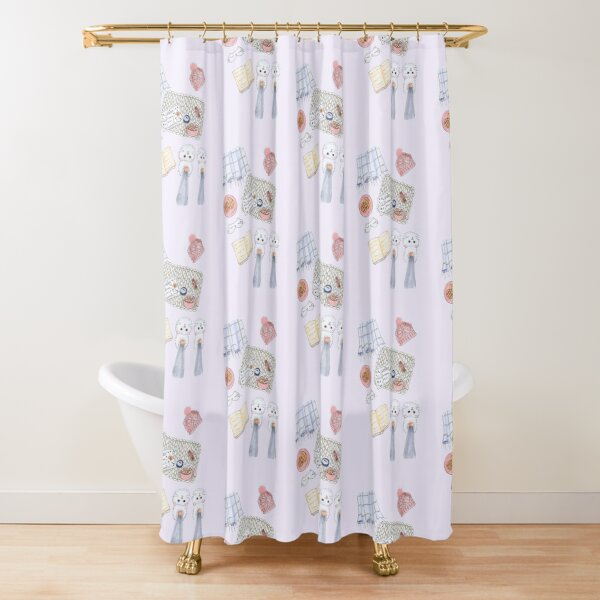 winter fashion shower curtains redbubble