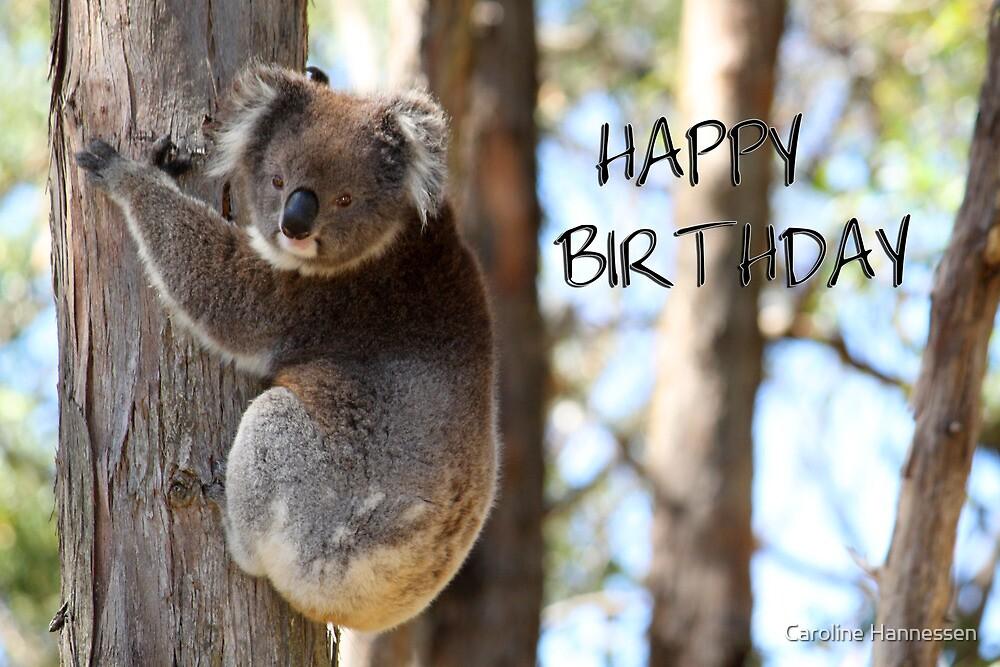 Happy Birthday Koala by Caroline Hannessen  Redbubble