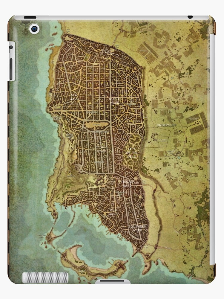 Map Of Waterdeep : waterdeep, Waterdeep, Wolfofthenorth, Redbubble