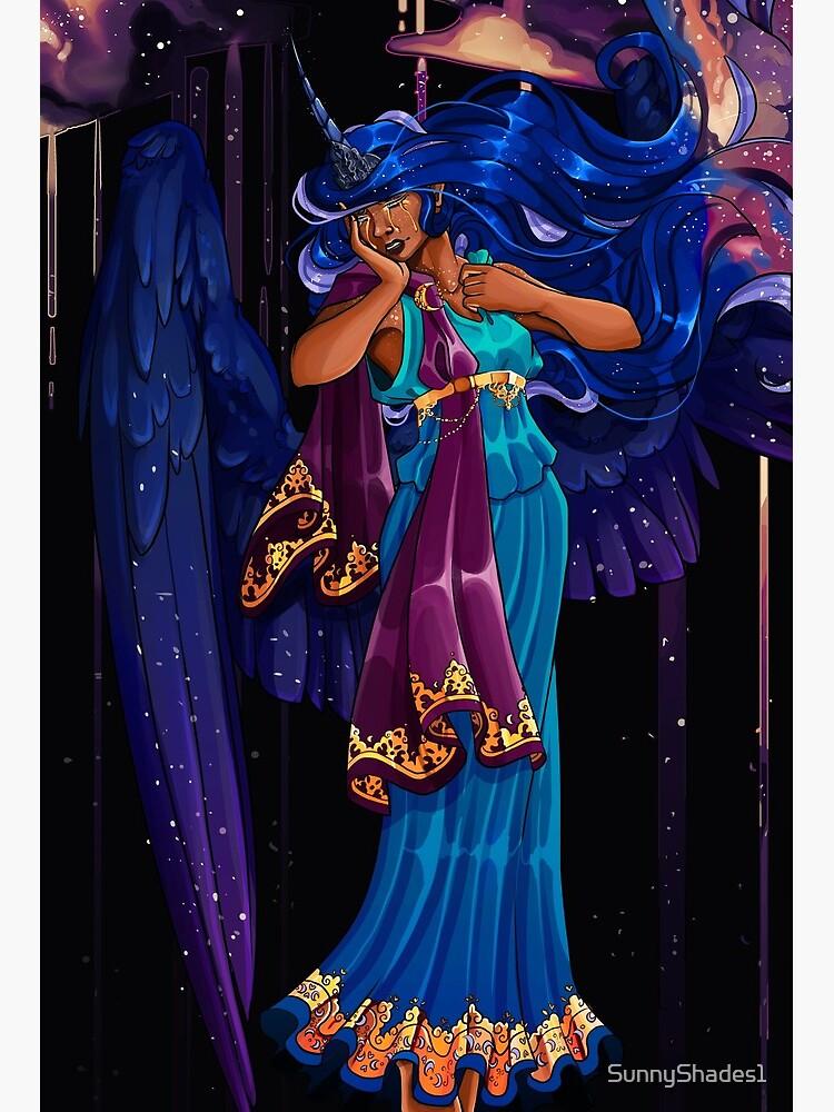 Princess Luna Mlp Human Art Board Print By Sunnyshades1 Redbubble