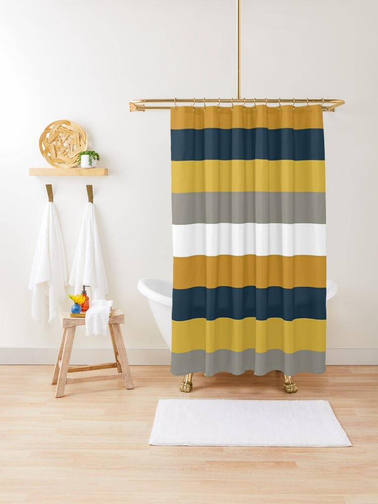 navy and yellow shower curtain cheaper than retail price buy clothing accessories and lifestyle products for women men